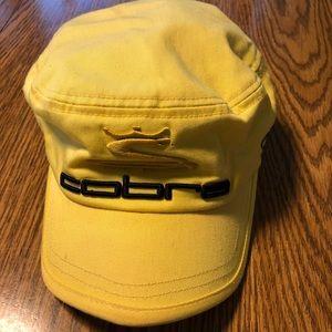 Cobra elastic back hat.